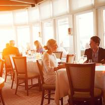 photo of the dining room at castle hill inn restaurant