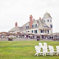 photo of the lawn at castle hill inn restaurant