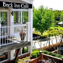 photo of back inn cafe restaurant