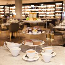 photo of afternoon tea at harvey nichols restaurant birmingham restaurant