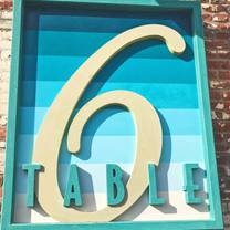 photo of table 6 restaurant