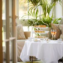 photo of afternoon tea at the drawing room at coworth park restaurant
