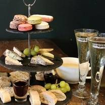 photo of afternoon tea at champagne + fromage - brixton restaurant