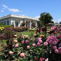 photo of the huntington's rose garden tea room restaurant