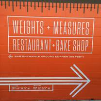 photo of weights and measures restaurant