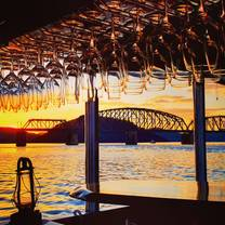 photo of the floating oyster wine bar restaurant