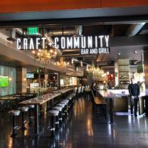 photo of craft + community bar and grill at the hard rock hotel & casino restaurant