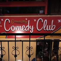 photo of greenwich village comedy club restaurant
