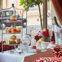 photo of afternoon tea in the palace lounge at the rubens hotel restaurant
