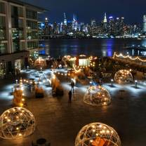 photo of snow globes at nohu rooftop restaurant