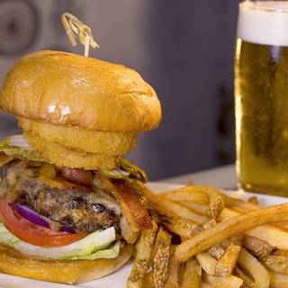 Sh's Applewood Bacon Bbq Burger - The Spotted Horse Tavern & Dinning Parlor, Opelousas, LA