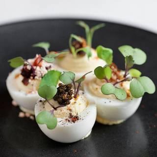Deviled Eggs - Zero Restaurant + Bar, Charleston, SC