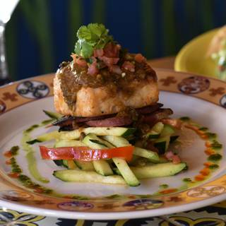 Sustainable Grilled Sea Bass - Adobe Grill, La Quinta, CA