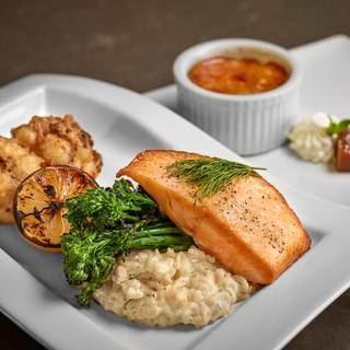 Salmon And Brulee - Madison's Grill - Union Bank Inn, Edmonton, AB