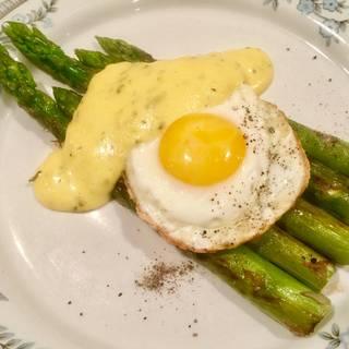 Asparagus With Fried Egg & Hollandaise - Copy () - Paris Bistro - Chestnut Hill, Philadelphia, PA