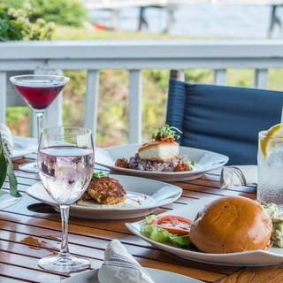 Deck Bar & Grill at Linekin Bay Resort