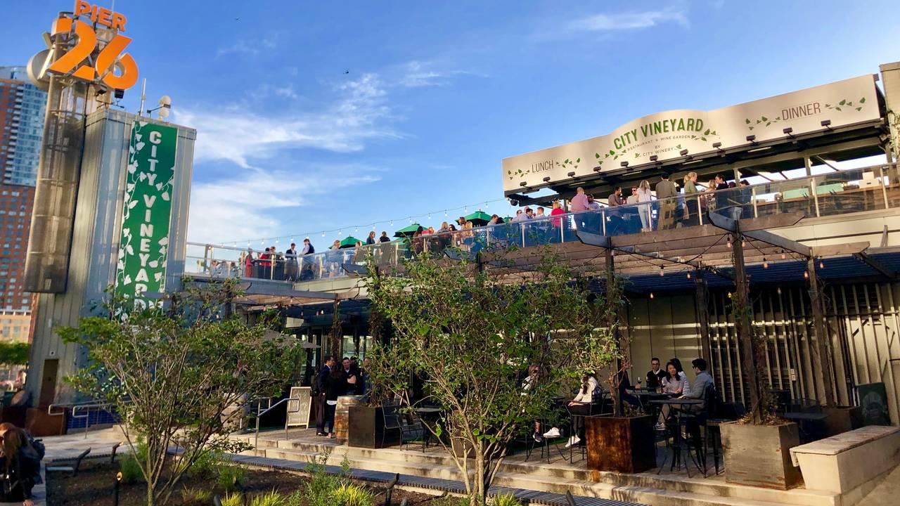 city vineyard & wine garden at pier 26 restaurant - new york, ny