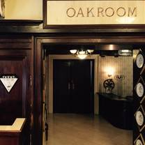 The Oak Room Louisville Brunch Menu
